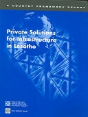Private Solutions for Infrastructure in Lesotho