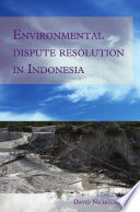 Environmental Dispute Resolution in Indonesia