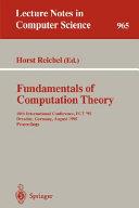 Fundamentals of Computation Theory