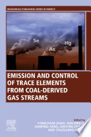 Emission And Control Of Trace Elements From Coal Derived Gas Streams