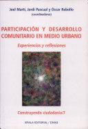 Participacion y desarrollo comunitario en medio urbano