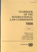 Yearbook of the International Law Commission 1998
