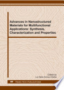 Advances in Nanostructured Materials for Multifunctional Applications  Synthesis  Characterization and Properties