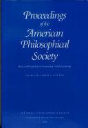 Proceedings, American Philosophical Society (vol. 144, no. 2, 2000) Pdf/ePub eBook