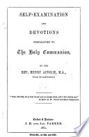 Self Examination And Devotions Preparatory To The Holy Communion