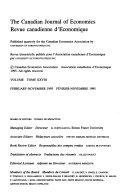 Pdf The Canadian journal of economics