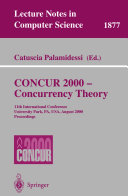 CONCUR 2000   Concurrency Theory