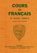 """Cours de fran�ais - 6e annŽe - Livre du Ma""""tre"""