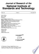 Journal of Research of the National Institute of Standards and Technology