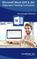Microsoft Word 2019 Training Manual Classroom in a Book