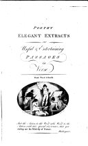 POETRY ELEGANT EXTRACTS  Or Useful   Entertaining PASSAGES in Verse