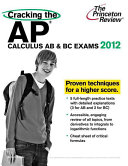 Cracking the AP Calculus AB   BC Exams 2012 Book