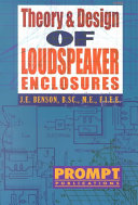 Theory & Design of Loudspeaker Enclosures