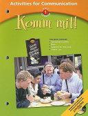 Komm Mit  Activities for Communication