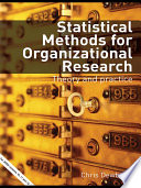 Statistical Methods for Organizational Research Book