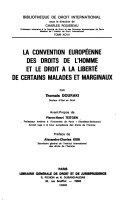 La Convention européenne des droits de l'homme et le droit à la liberté de