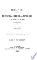 Transactions of the Institution of Engineers and Shipbuilders in Scotland