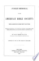 Jubilee Memorial of the American Bible Society