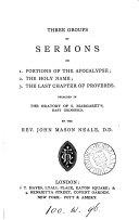 Three Groups of Sermons