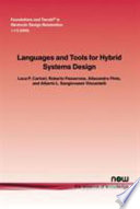 Languages and Tools for Hybrid Systems Design Book