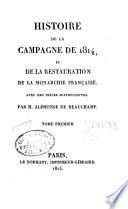 Histoire de la campagne de 1814