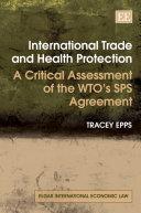 International Trade and Health Protection Pdf/ePub eBook