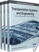 Transportation Systems And Engineering Concepts Methodologies Tools And Applications Book PDF