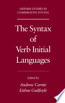 The Syntax Of Verb Initial Languages