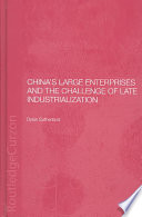 China S Large Enterprises And The Challenge Of Late Industrialization Book PDF