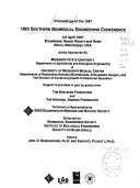 Proceedings of the     Southern Biomedical Engineering Conference