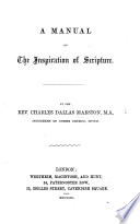 A Manual on the Inspiration of Scripture