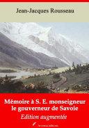 Pdf Mémoire à S. E. monseigneur le gouverneur de Savoie Telecharger