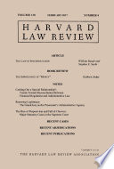 Harvard Law Review Volume 130 Number 4 February 2017