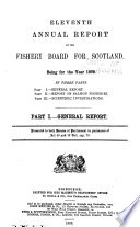 Annual Report of the Fishery Board of Scotland