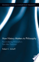 How History Matters to Philosophy Book