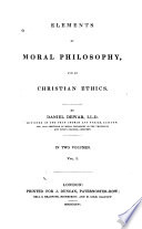 Elements of Moral Philosophy and of Christian Ethics