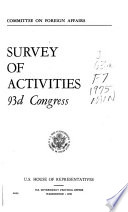 Survey Of Activities Of The Committee On Foreign Affairs