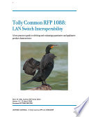 Tolly Common Test Plan  1088 LAN Switch Interoperability Book