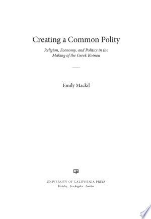Download Creating a Common Polity online Books - godinez books