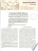 Formulating MAXMIN Objectives in National Forest Planning Models
