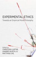 Experimental Ethics