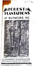 Forest Plantations at Biltmore  North Carolina