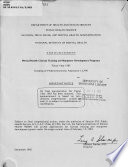 Mental health clinical training and manpower development programs  fiscal year 1983