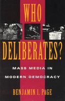 Who Deliberates
