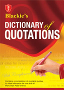 Pdf Blackie's Dictionary of Quotations