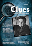 Clues: A Journal of Detection, Vol. 37, No. 2 (Fall 2019)