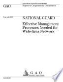 National Guard effective management processes needed for widearea network
