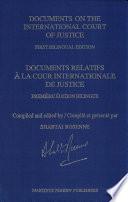 Documents Relatifs À la Cour Internationale de Justice