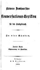 Kleineres Brockhaussches conversations-lexikon für den Handgebrauch ...