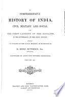 A Comprehensive History Of India Civil Military And Social
